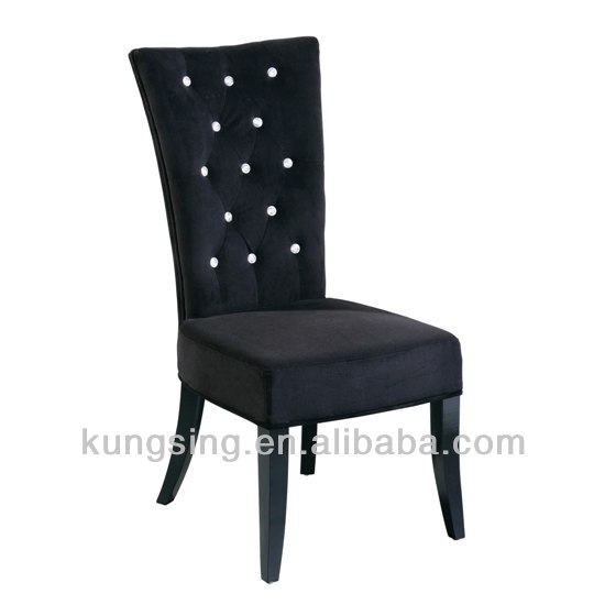 dining room button back high back chairs black lacquer