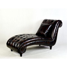 elegant vintage leather design chaise lounge chair