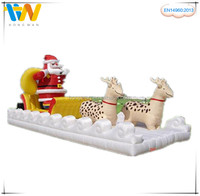 Cheap price wholesale outdoor Christmas decoration horse carriage, inflatable Christmas gift