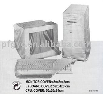Plastic dust cover (set of 3) for your computer