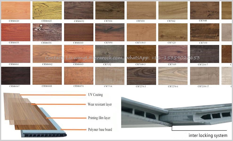 hot selling good quality hollow 6mm laminate flooring with wood grain texture surface