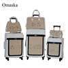 6pcs set spinner wheel PU material luggage manufacture fancy leather luggage sets