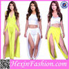 white and yellow bodycon cocktail dress wholesale