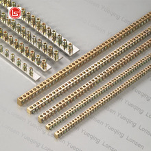 One Meter Brass Neutral Bus Bar screws brass neutral bars
