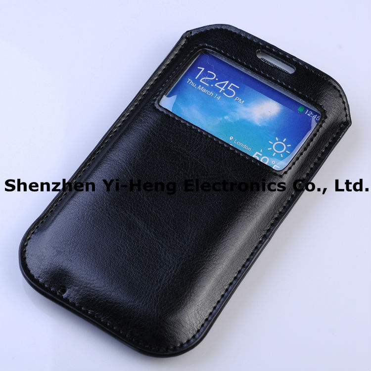 Wholesale Flip Leather Cover Case For Samsung Galaxy S5 SV i9600 S4 SIV I9500 Wallet Stand Holder Card Slot