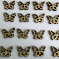 HOT SELLING BUTTERFLY DECORATIONS GARMENT WOOD