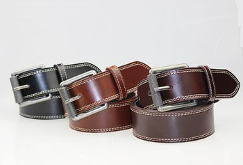 black & brown fashion genuine leather belt man belt