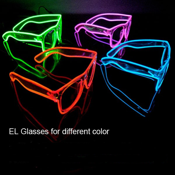 Fashion Neon LED Light Up Glow Rave Costume Party DJ Party El Wire SunGlasses