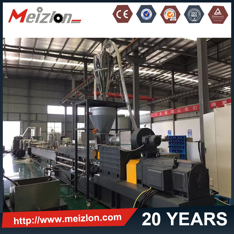 Co-rotating Plastic Granule extrusion/ nylon glass fiber compound/Plastic Polymer Compounding Extrusion Machinery