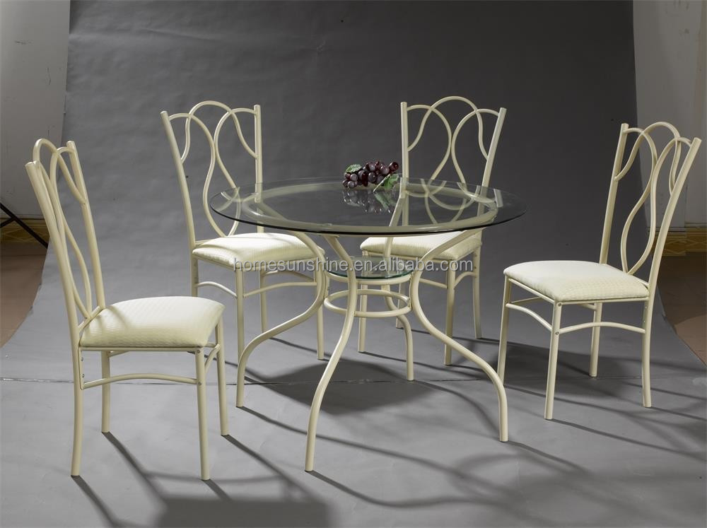 Cheap round dining table and chairs for restaurant
