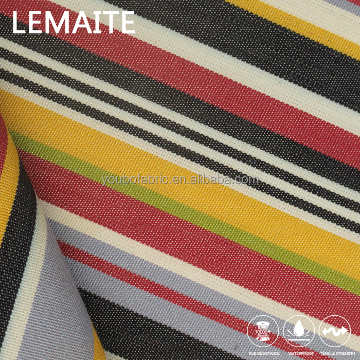 Quick Dry Knitted Poly Fabric with Stripe Woven Polyester Jacquard Fabric Waterproof