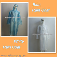 Disposable PE Waterproof Transparent Plastic Raincoat