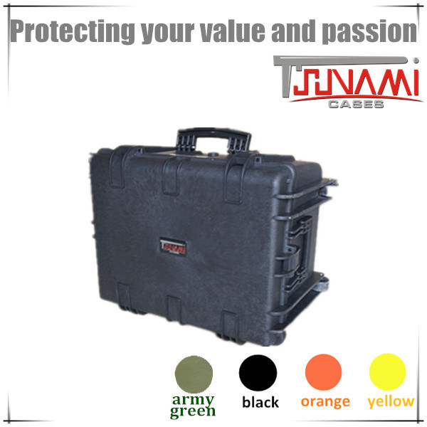 Waterproof IP67 Shockproof Case with Foam and Wheels Fishing Tackle Case