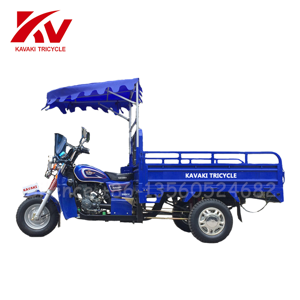 250cc Three Wheel Taxi / Three Wheel Motorcycle With Steering Wheel / Three Wheel Bike Passenger Cargo For Sale