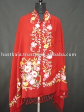 Wool Embroidery Shawls in Latest Designs and Colors