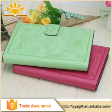 Embossed School Notebook Paper PU Leather Notebook Cheap Diary A5 B5 A4