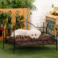 2015 luxury metal pet dog bed, wrought iron canopy pet bed, dog beds large