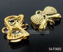 Best sales brass jewelry findings earring setting with zircon