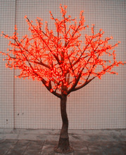 2016 new design light up decorative artificial light up plastic flowers, led tree