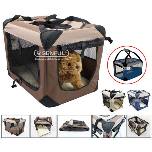 New style foldable fabric Dog Crate Pet Carrier Dog Kennel Dog Soft Crate