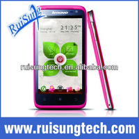 Lenovo Phone Lenovo S720 4.5 Inch IPS QHD Screen Android 4.0 MTK6577 Dual Core 3G 1.3MP Front Camera- Pink