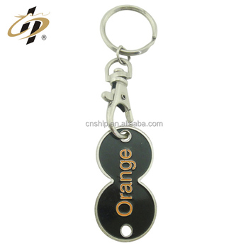 Wholesale cheap metal enamel colored shopping trolley token