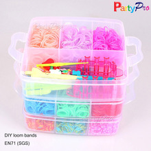 3200 Pieces Colorful Rainbow Bands Loom Kit for Kids DIY Rubber Hand Bands