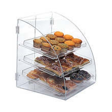 wholesale clear curved front bakery display case custom bakery box with window, plastic acrylic bread box