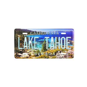 California Nevada Embossed License Plate
