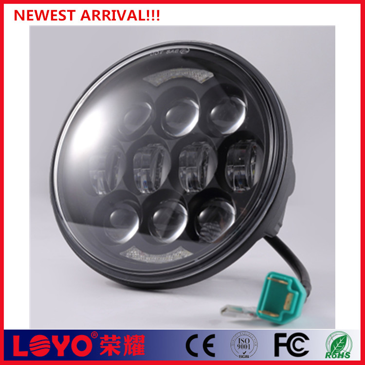 "unique design H4 high/low beam 5.75"" 80W led light for Harley 5.75 inch headlight"
