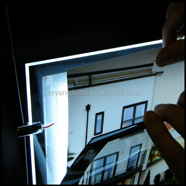 Real estate agent led window signs size a3 a4/led window backlit panels/exhibitor backlit window led display