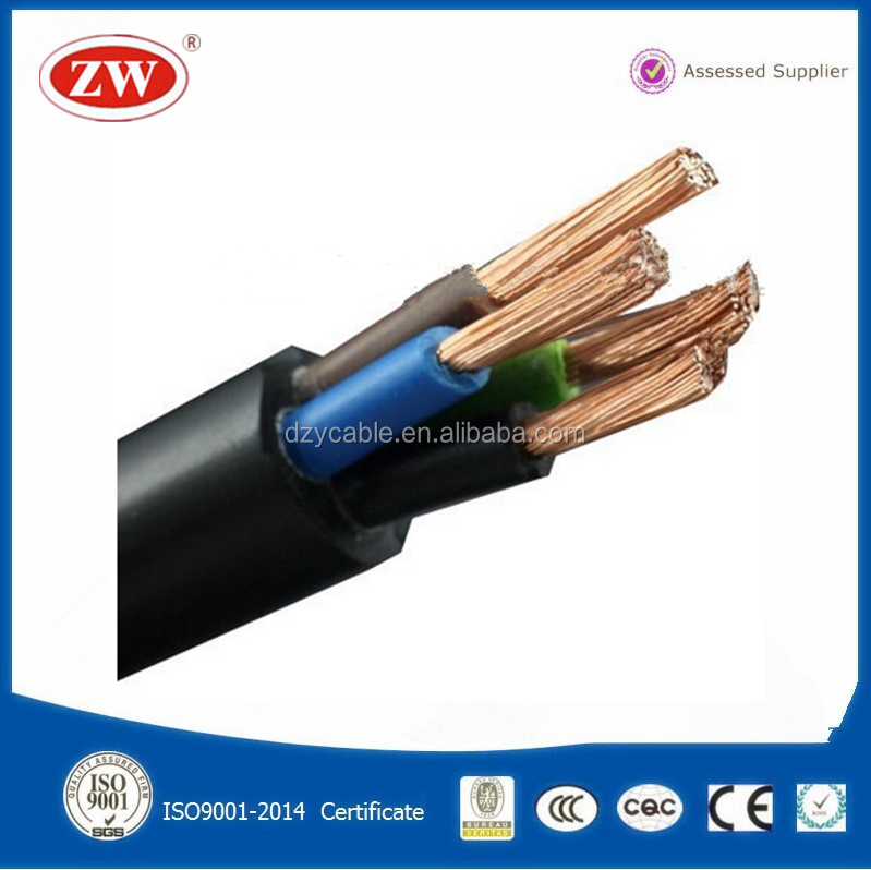 300/500v flexible 4 core pvc 10mm2 electrical power cable