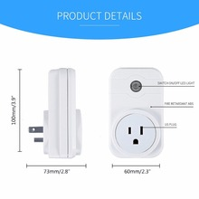 Amazon alexa WiFi smart plug Tuya app wireless remote control socket