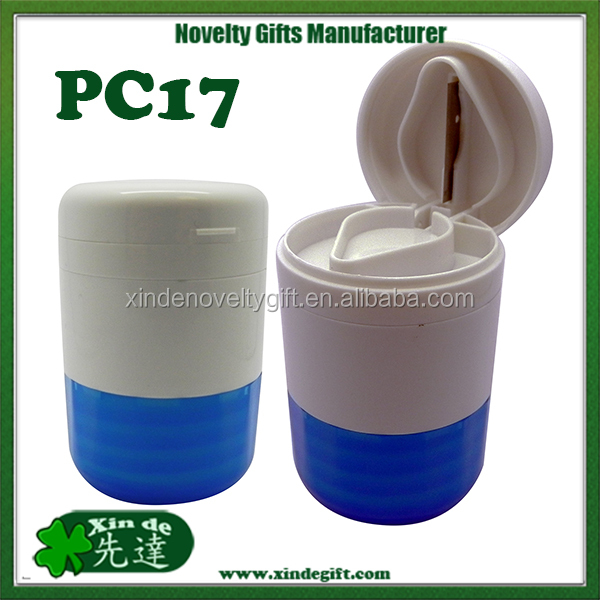 Premium Pill crusher cutter pill box, medical tablet cutter pill case, Pill splitter pill holder equipped with stainless steel b