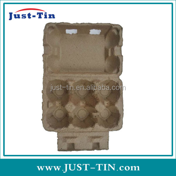 K-6 hole labeled pulp paper egg packaging box