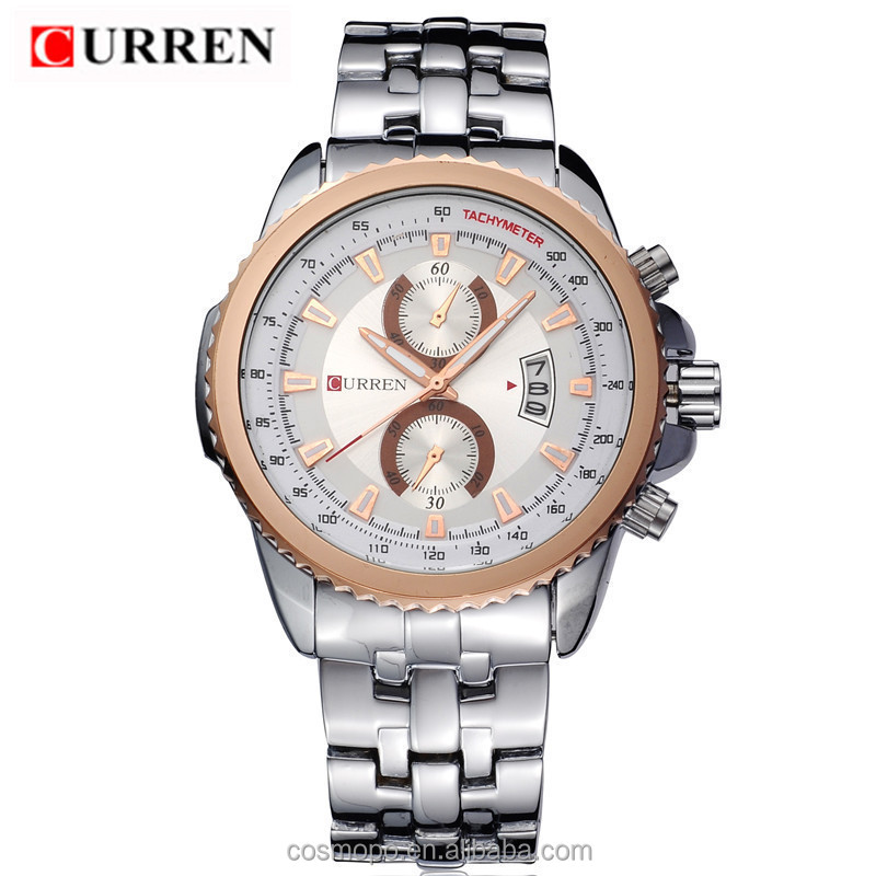 wholesale high quality water resistant curren men watch japan movt watch prices men watch