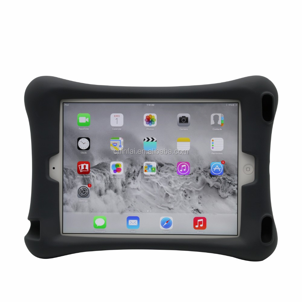 Soft Protective Tablet Case for iPad Air 2 Colorful Silicone Ipad Case Shockproof Tablet Case