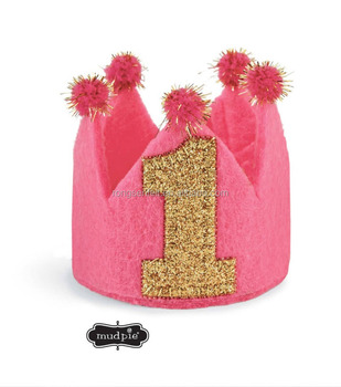 first birthday crown felt