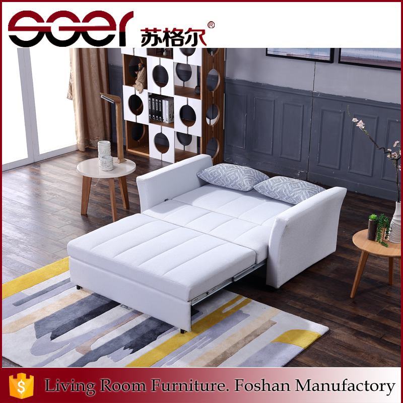 2017 two seats fabric foam iron frame designs mobile home furniture