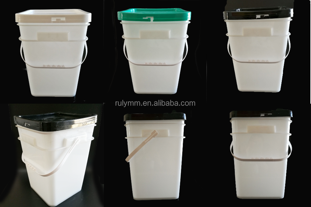 HOT 2L 5L 8L10L15L square food grade plastic buckets