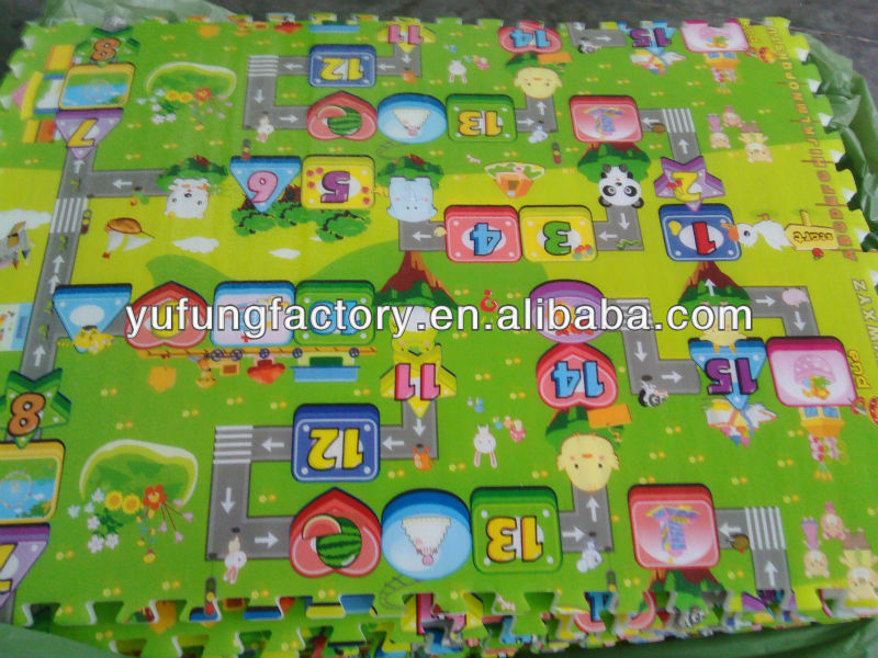 EPE foam inflatable baby play mat baby puzzle