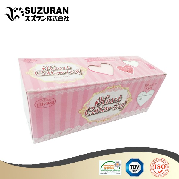 Suzuran Lilybell heart cotton puff 60pcs nose fit shape