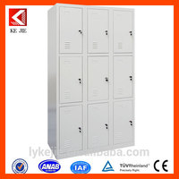 luxury office furniture eco-friendly wardrobe furniture sale moveable kd steel modern style 2 door clothing cabinet for staff