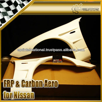 For Nissan Z32 300ZX Fairlady BN Style Carbon Fiber FRP Front Vented Fender +25mm Body Kits
