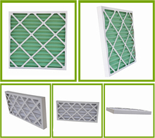 Air conditioning panel pleated furnace air filter