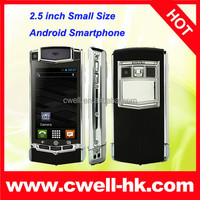 2.5 Inch Touch Screen WiFi Dual SIM Card Android 4.2 MTK6572 Dual Core Mini V8 Small Size Android Smartphone
