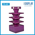 full sides cardboard display rack for snacks promition