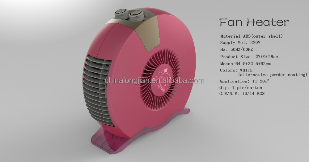 1600W Electric Portable Space Fan Forced Heater 110V 220V