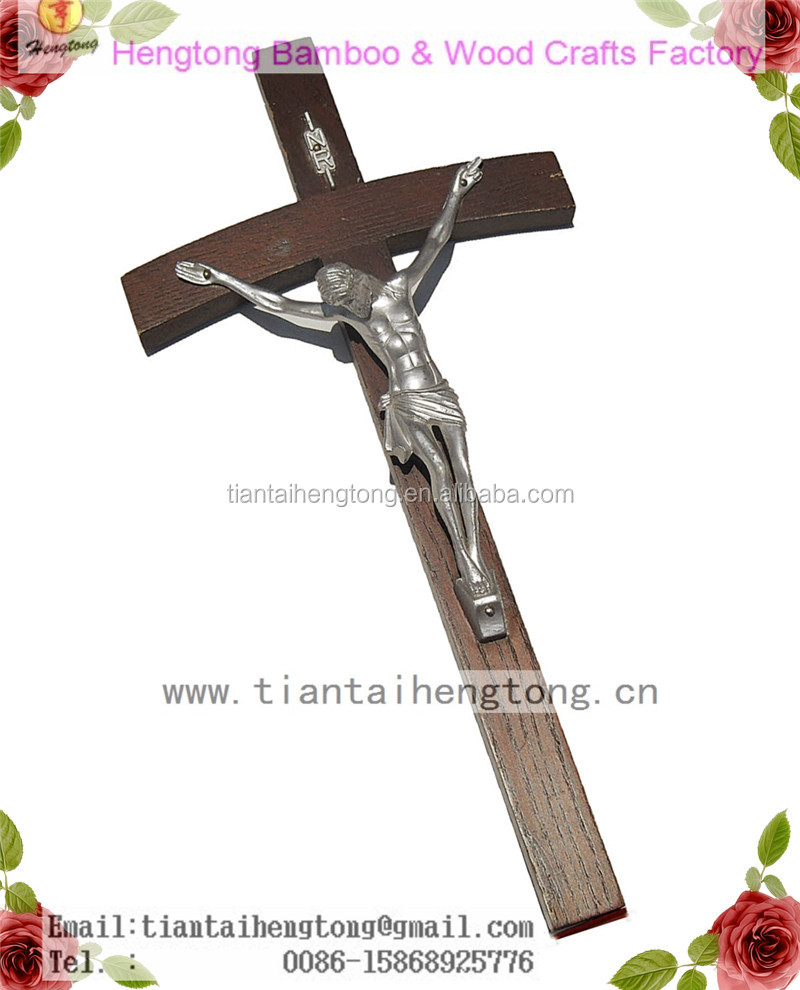 religious wood cross,wall cross, cross with jesus