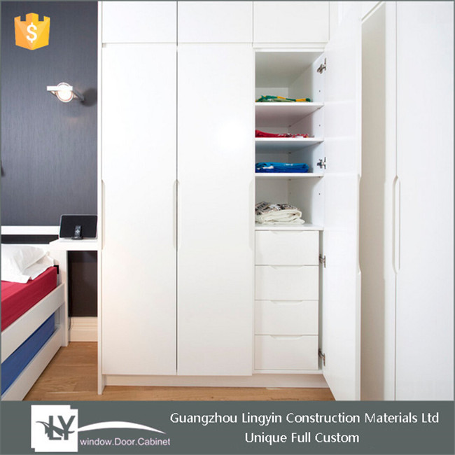 2016 modular stylish design high gloss lacquer wardrobe bedroom furniture with drawers design for sales